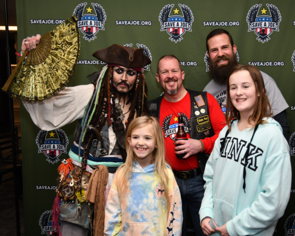 The Hammer family with Captain Jack