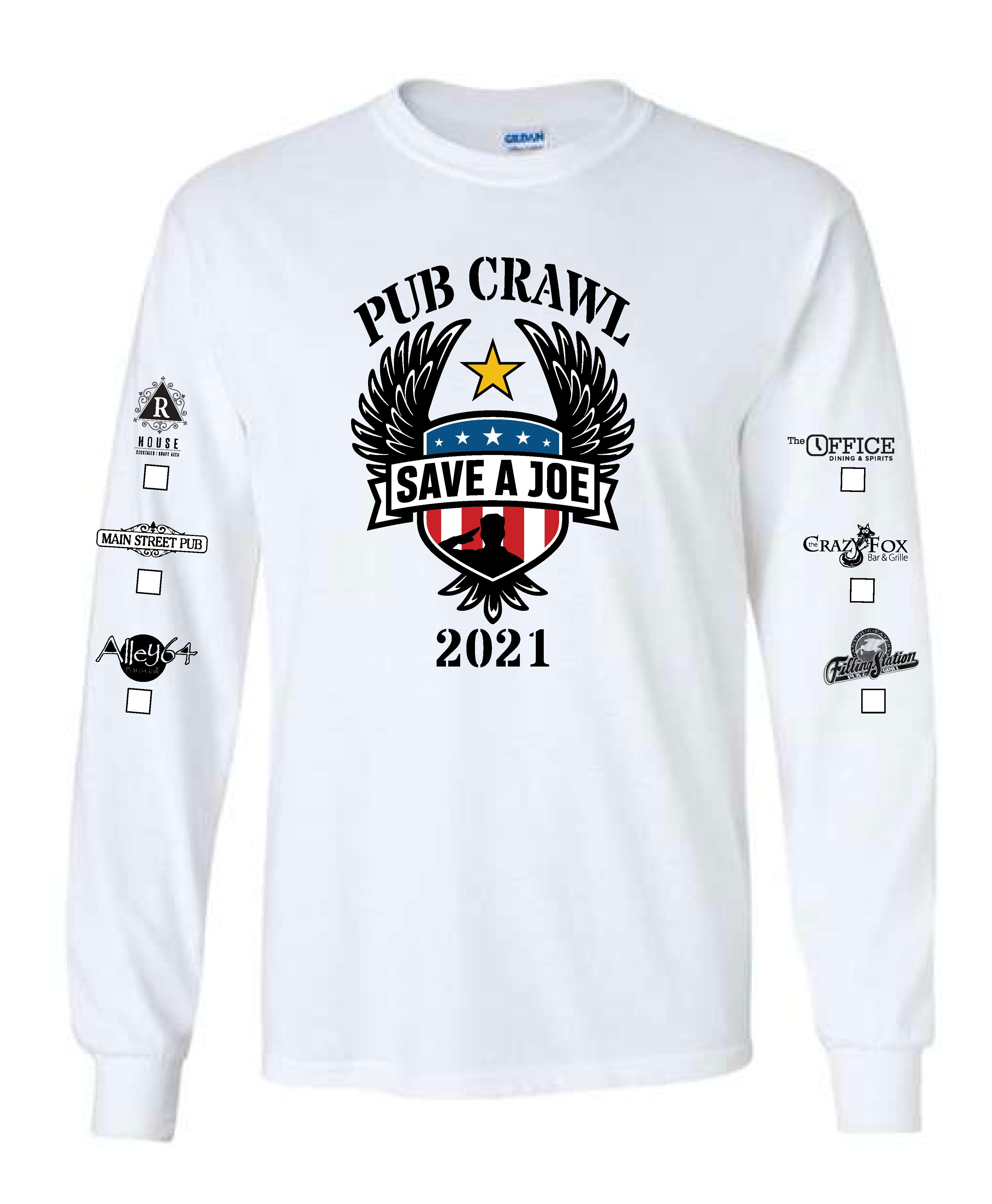 2021 SAJ Pub Crawl Shirt